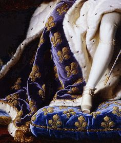 ∷ Portrait of Louis XV of France as a five-year-old King in the French coronation robes, 1715. (details)