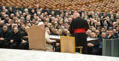 Papa Francesco incontra il clero romano il 19 febbraio