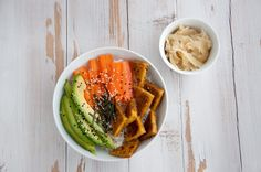 A vegan Deconstructed Sushi Bowl is a healthy meal, that's also perfect to take to work or school. It's easy and you can add in whatever you like!