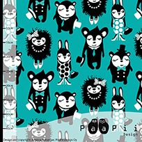 Party animals organic jersey, turquoise