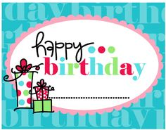 Frugal Life Project: Free Happy Birthday Tags!
