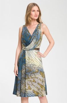 Anne Klein Sleeveless Faux Wrap Silk Dress available at Nordstrom