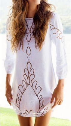 White Summer Dress For Ladies Click The Picture To See More