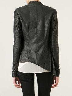 10sei0otto Raw Cut Leather Jacket - - Farfetch.com Leather Jacket, Jackets, Shopping, Women, Fashion, Studded Leather Jacket, Down Jackets, Moda, Leather Jackets