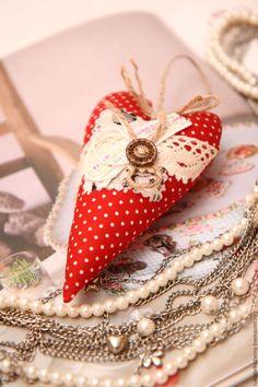 Купить Сердечки декоративные из ткани - разноцветный, подарок на 14 февраля, День Святого Валентина