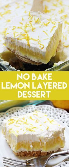 Golden Oreos, cheesecake, lemon pudding, and whipped topping make this No Bake Lemon Layered Dessert taste awesome!