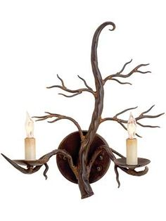 Buy the Currey and Company 5307 Old Iron Direct. Shop for the Currey and Company 5307 Old Iron Treetop Wall Sconce with Customizable Shades and save. Rustic Wall Sconces, Bathroom Wall Sconces, Candle Wall Sconces, Rustic Wall Decor, Rustic Walls, Wall Sconce Lighting, Cabin Lighting, Traditional Wall Sconces, Sconces Living Room