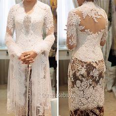 Indonesian White Lace Kebaya