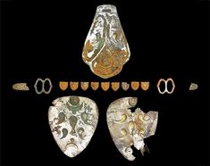 Hungarian ornaments found at the site of the Battle of Lechfeld Medieval Jewelry, Medieval Art, Fine Art Auctions, Interesting History, Hungary, Diamond Earrings, Battle, Ornaments, Pictures