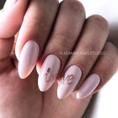 Cute Nails Design To Express Your Feelings #cutenails #pinknails Explore designs for short, medium and long almond nails in black, white, blue, red, pink, purple, dark, pastel, peach, burgundy hues. #glaminati #nailsdesigns #nails #almondnails
