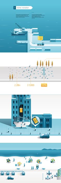 Illustrative vector map. This one is well rendered.  m2m Infographics on Behance