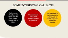 Some interesting #car #facts