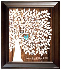 Guest Book Alternative Guest Book Tree Wood Wedding Tree Guestbook Wedding Tree Poster Rustic Wedding Guest Book Love Birds Themed Wedding by fancyprints on Etsy https://www.etsy.com/listing/183576553/guest-book-alternative-guest-book-tree