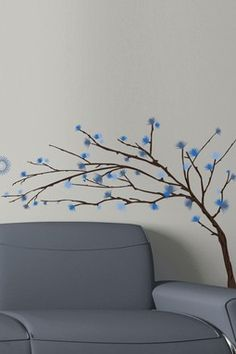 Design Branches II Removable Wall Decal Set---even though I usually like the red and pink ones, this one is pretty awesome too