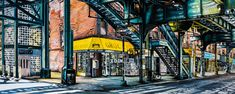 """""""NEW YORK By Socrates Rizquez 2019 - Enamels on aluminium painting. 120 x 48 cm. Thanks to my eyes in NYC Nico Geerlings. Yellow Wall Art, Yellow Painting, Original Paintings, Original Art, Socrates, Realism Art, Photorealism, Enamel Paint, Impressionism"""