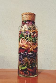 Used my dried flowers to fill this beautiful jar. More