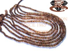Andalusite Faceted Roundel (Quality AAA) Shape: Roundel Faceted Length: 36 cm Weight Approx: 13 to 15 Grms. Size Approx: 4.5 to 5 mm Price $56.16 Each Strand