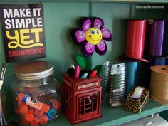 love the saying and the storage ideas