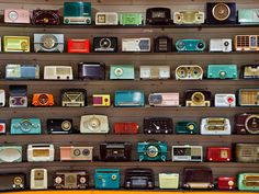 Collections Café | Chihuly Garden & Glass Exhibition - Old radio collection!