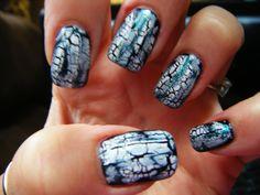 Sept 14 2012 Crackel Nails
