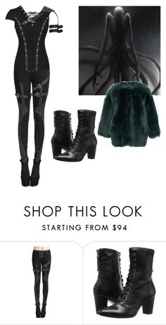 """""""They say monsters walk alone, they're right"""" by lenajfam ❤ liked on Polyvore featuring Johnston & Murphy and Rochas"""