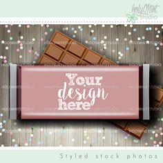 Candy Bar Mockup by www.HolyMintStudio.Etsy.com