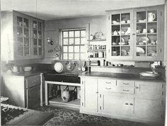 1920s kitchen.