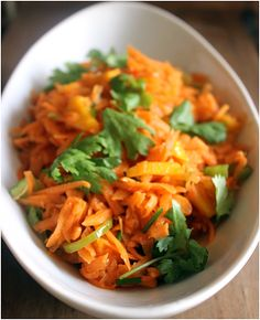 Mango and carrot salad