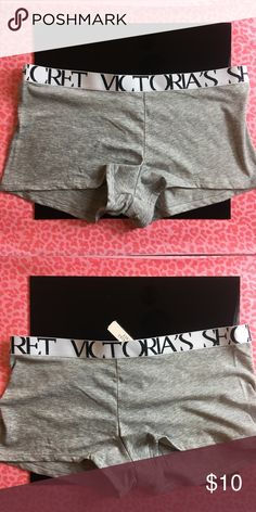NWT Victoria's Secret Bold Logo Boyshort Panty NWT Victoria's Secret Bold Logo Boyshort Panty, Size M, Color Gray. Victoria's Secret Intimates & Sleepwear Panties