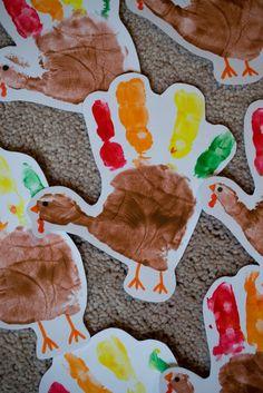 Handprint turkey.