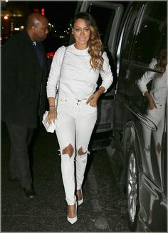 Lala Anthony_street style outfit I it! Classy Outfits, Chic Outfits, Fashion Outfits, Celebrity Outfits, Celebrity Style, Kardashian, Casual Chic Style, White Fashion, Types Of Fashion Styles