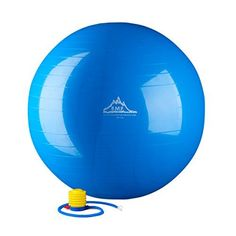 Black Mountain Products Static Strength Exercise Stability Ball with Pump, 2000 lb/85cm, Blue