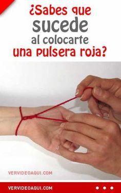 ¿Sabes que sucede al colocarte una pulsera roja? #pulseraroja #pulseras #suerte #humano #hilorojo
