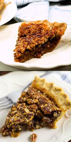 Gooey caramel filling with crunchy pecans in a buttery, flaky, golden crust make this homemade Southern Pecan Pie a heavenly treat for your holiday table! This recipe is SO EASY to make and seriously the best pecan pie ever. Plus video directions! Homemade Pecan Pie, Best Pecan Pie, Best Pie, Pie Recipes, Mexican Food Recipes, Dessert Recipes, Southern Pecan Pie, Easy Thanksgiving Recipes, Easy To Make Desserts