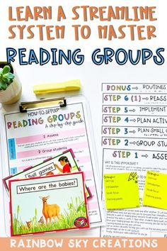 What if you could master setting up and running your guided reading groups in a week? Transform Your Reading Groups is a digital course that will teach you our no-fail 5-step system for mastering reading groups. An uncomplicated way to run reading groups in the early years and primary years. Included templates, suggested reading activities and recording sheets. Daily 5 Activities, Reading Activities, Literacy Stations, Literacy Centers, Teaching Materials, Teaching Resources, Guided Reading Groups, Rainbow Sky, Australian Curriculum