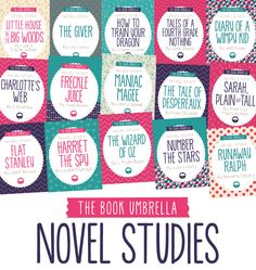 Novel studies at The Book Umbrella for grades 2-8!