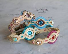 Soutache bracelet, Handmade bracelet, Hand Embroidered, Soutache Jewelry, Handmade from Italy, OOAK
