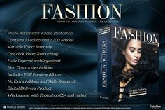 Actions for Photoshop / Fashion by Miracle_Design on @creativemarket