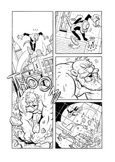 China della prima tavola di Cinci (colori di Andrea Izzo) per ZEROI (Tuono Pettinato, Matteo Casali e Cinci) #character #comics #superhero #crowdfunding