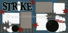 Strike Scrapbook Page Kit [strike12] - $7.99 :: Lotts To Scrap About - Your Online Source for Scrapbook Page Kits!