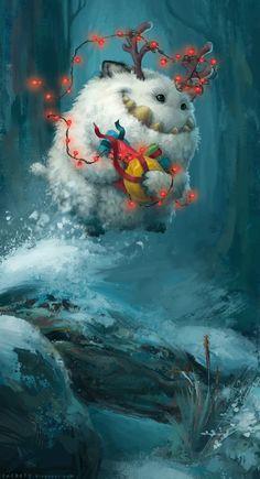 Zac Retz Art- Christmas Yeti