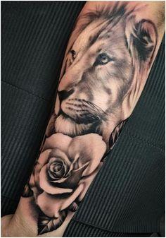 #Tattoo #SleeveTattoo Lion Sleeve Tattoo, click for more.
