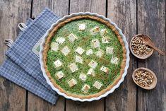 Gluteeniton pinaatti-fetapiirakka Pot Holders, Pie, Desserts, Food, Torte, Tailgate Desserts, Cake, Deserts, Hot Pads