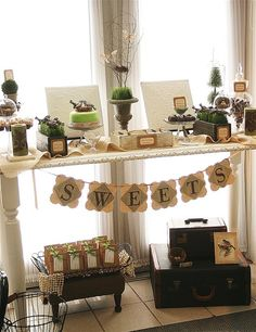 With all the brightly colored Spring tablescapes and/or Easter pastel colors we have been seeing this time of year, this earthy, rustic East. Xmas Flowers, Desert Table, Spring Desserts, Event Company, Rustic Decor, Rustic Style, Rustic Buffet, Rustic Farmhouse, Holidays And Events