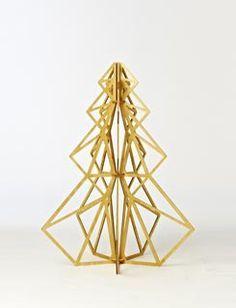 Resultat d'imatges de geometric christmas tree