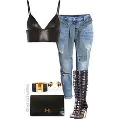 Hermes by highfashionfiles on Polyvore featuring polyvore fashion style T By Alexander Wang H&M River Island Paul Andrew Hermès ASOS