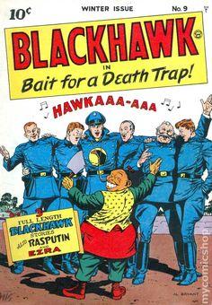 Image result for blackhawk (comic book) #9 1944