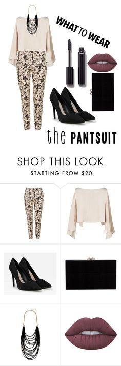 """""""Sin título #116"""" by claavedefa ❤ liked on Polyvore featuring Topshop, CHARLES & KEITH, Charlotte Olympia, Sparkling Sage, Lime Crime, Chanel and thepantsuit"""