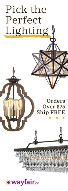 Sign up for access to exclusive sales, all at up to 70% OFF! Switch on BIG savings for every space. From sconces to overhead lighting and chic lamps, our selection has everything you need to show your home in the best possible light. Plus, enjoy FREE shipping on orders over $75.