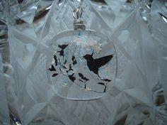 Fused Glass Jewelry  Hummingbird  Dichroic Glass by SueCooperman, $12.00